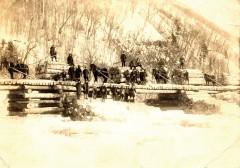 馬搬による木材貯木