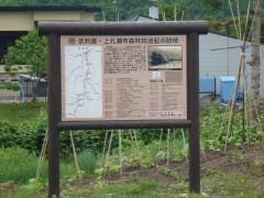 森林鉄道の看板